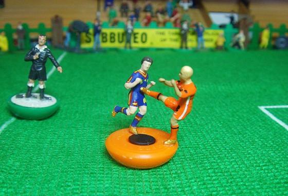 Kung-fu do holandês Nigel de Jong na final da Copa de 2010 ante a Espanha