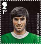 Royal Mail football heroes stamp collection